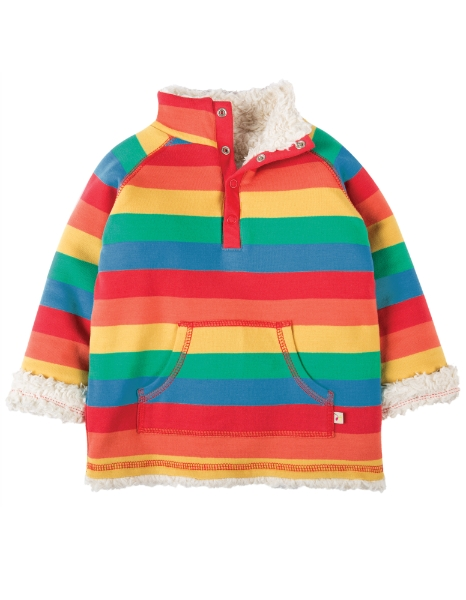 69de651199ad Frugi Little Snuggle Fleece Rainbow Stripe  12-18 months - Hopskotch ...