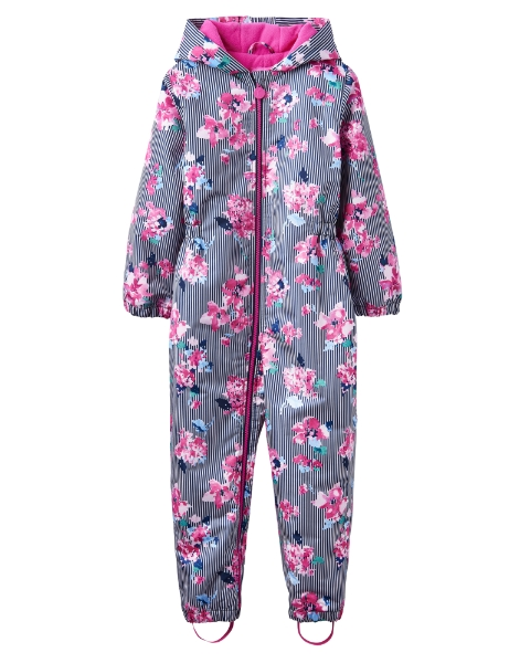 023c94700 Joules YNG Cosy G- Girls Snowsuit- Stripe Floral: 1 Years ...